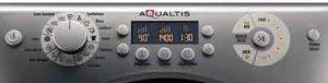 lave linge HOTPOINT AQ103F49 AQUALTIS panneau de commande