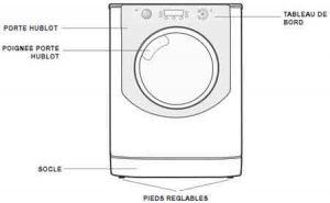 le lave linge hotpoint aq103f49 10 kg au top. Black Bedroom Furniture Sets. Home Design Ideas