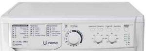 machine a laver INDESIT EWC61252W FR vue panneau de commande