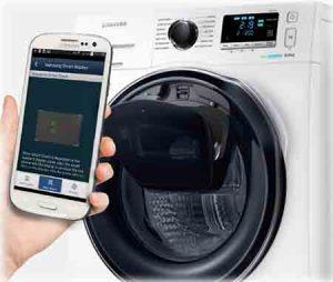 Machine à laver SAMSUNG WW91K6404QW suivie des pannes par téléphone