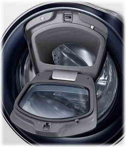 Machine à laver SAMSUNG WW91K6404QW trappe ajout de linge