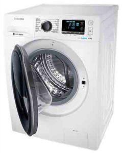 Machine à laver SAMSUNG WW91K6404QW vue hublot ouvert
