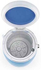 mini lave linge Oneconcept ecowash pico vue de dessus ouverte