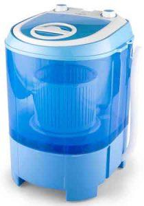 mini machine a laver OneConcept SG003 vue de 3/4 fermé