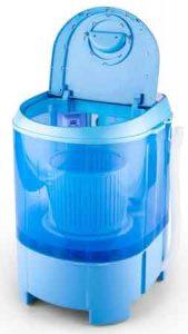 mini machine a laver OneConcept SG003 vue de 3/4 ouverte
