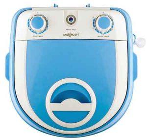 mini machine a laver OneConcept SG003 vue de dessus avec son panneau de controle et sa prise de remplissage