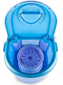 mini machine a laver OneConcept SG003 vue de dessus ouverte avec son panier