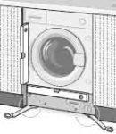 Installation machine a laver encastrable - Equilibrer la machine en reglant les pieds