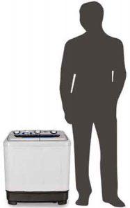 lave linge oneconcept DB004 comparaison pour avoir la taille de la machine